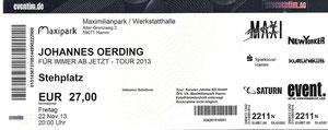 Nr.114 - 22.11.2013 - Johannes Oerding - Maximilianpark, Hamm