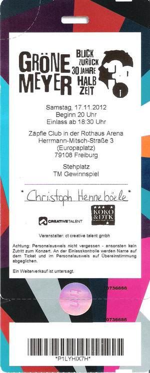 Nr.64 - 17.11.2012 - Herbert Grönemeyer - Zäpfle-Club, Freiburg