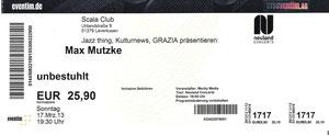 Nr.72 - 17.03.2013 - Max Mutzke - Scala, Leverkusen