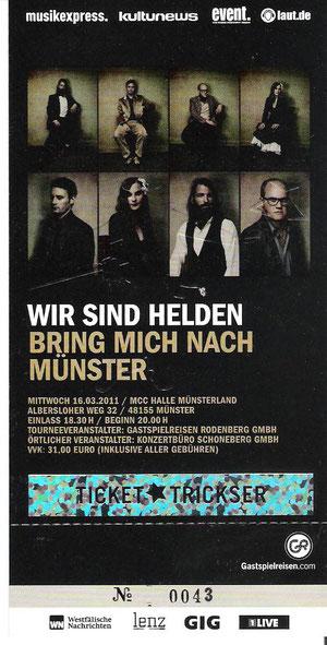 Nr.35 - 16.03.2011 - Wir sind Helden - Halle Münsterland, Münster