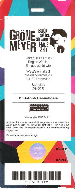 Nr.61 - 09.11.2012 - Herbert Grönemeyer - Westfalenhalle 2, Dortmund