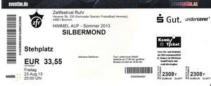 Nr.100 - 23.08.2013 - Silbermond - Zeltfestival Ruhr, Bochum