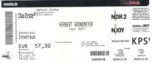 Nr.38 - 01.06.2011 - Herbert Grönemeyer - Volksparkstadion, Hamburg
