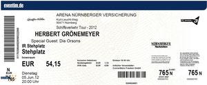 Nr.54 - 05.06.2012 - Herbert Grönemeyer - Arena Nürnberger Versicherung, Nürnberg