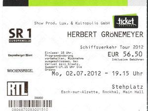 Nr.57 - 02.07.2012 - Herbert Grönemeyer - Rockhal, Esch-sur-Alzette (LUX)
