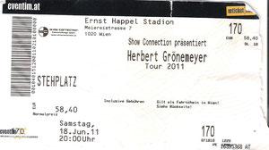 Nr.43 - 18.06.2011 - Herbert Grönemeyer - Ernst Happel Stadion, Wien (AT)