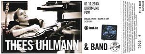 Nr.106 - 01.11.2013 - Thees Uhlmann - Freizeitzentrum West, Dortmund
