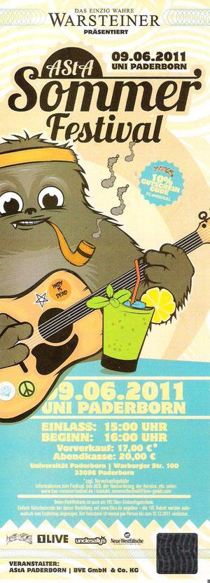 Nr.39 - 09.06.2011 - Asta-Sommerfestival (Bosse, Broilers) - Universität, Paderborn