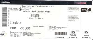 Nr.42 - 16.06.2011 - Roxette - Tanzbrunnen, Köln