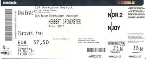 Nr.37 - 31.05.2011 - Herbert Grönemeyer - IGA-Park, Rostock