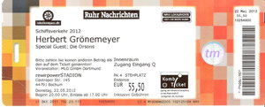 Nr.50 - 22.05.2012 - Herbert Grönemeyer - Ruhrstadion, Bochum