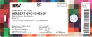 Nr.53 - 29.05.2012 - Herbert Grönemeyer - Hockeypark, Mönchengladbach