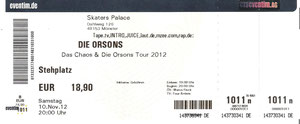 Nr.62 - 10.11.2012 - Die Orsons - Skater's Palace, Münster