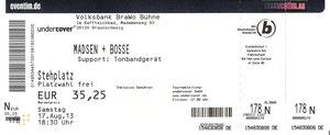 Nr.99 - 17.08.2013 - Madsen & Bosse - Volksbank BraWo Bühne, Braunschweig