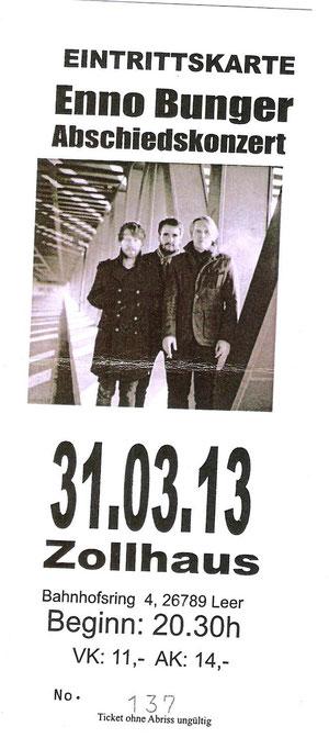 Nr.74 - 31.03.2013 - Enno Bunger - Zollhaus, Leer