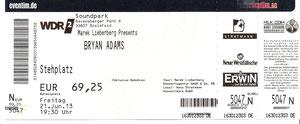Nr.87 - 21.06.2013 - Bryan Adams - Soundpark, Bielefeld