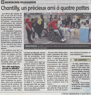 L'Yonne républicaine du 5 avril 2012