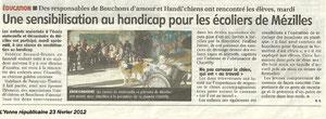 L'Yonne républicaine du 23 février 2012