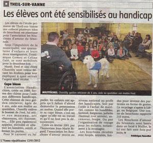 L'Yonne Républicaine 12 janvier 2012