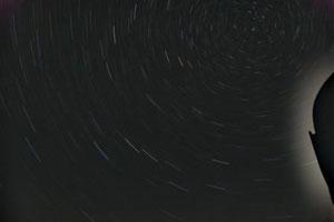 Sternspuren (Langzeitbelichtung)
