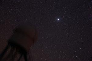 Sternwarte mit Jupiter