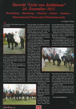 Bericht von Regina Fabian im Friesenjournal - Sternritt 24.12.2011