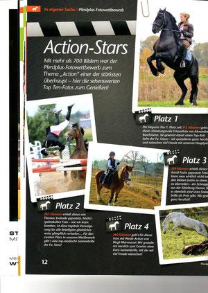 A. Buschmann in der Ausgabe der Pferd Plus