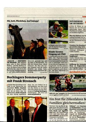 Babsi, Franz und Princess im Bezirksblatt