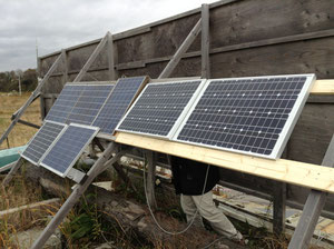 11月 ソーラーパネル追加(ツリー点灯準備)