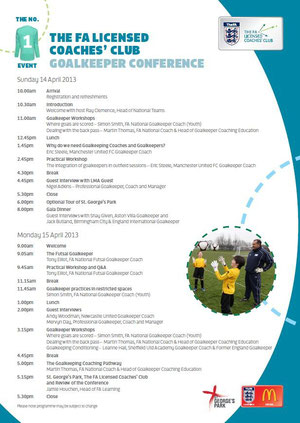 The FA goalkeeper conference