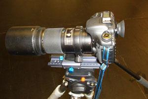 Kamera auf Makroschiene
