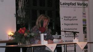 """Antje Fries liest ihren Kurzkrimi """"Das Quitten-Piffche"""""""
