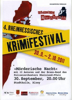 Plakat des 4. Rheinhessischen Krimifestivals in Alzey