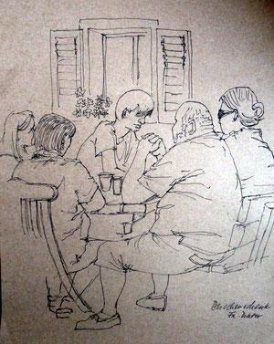 Skizzen in einer Buschenschank