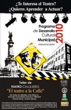 """Taller de teatro """"El teatro a la calle""""."""