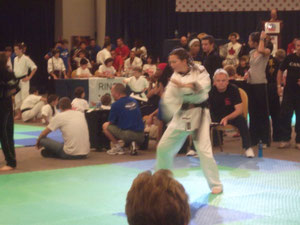 Isabelle Leggett in the Kata competition