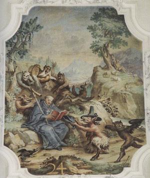 St. Mang und Dämonen