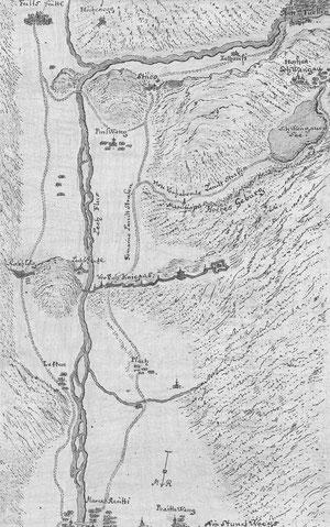 altes Kartenblatt von Pinswang