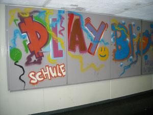 Graffity Kunst mit den Hauptschulen Singen