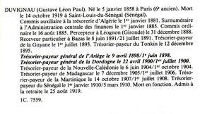 Source : Pierre-François PINAUD. Les Trésoriers-Payeurs généraux au XIXe siècle. Les Edtions de l'Erudit. 1983. p. 8
