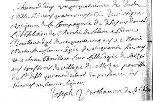 Extrait du registre paroissial de St Just Luzac (17)  de 1686