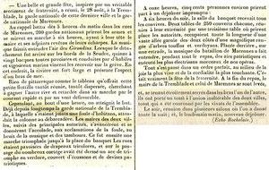 Article du 5 septembre 1848 Fête La Tremblade-Marennes