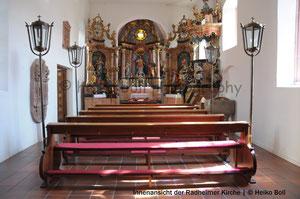 Innenansicht der Radheimer Kirche St. Laurentius | © Heiko Boll
