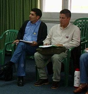 comp. Luis Torres y Marco Lobos durante un Seminario