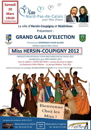 Affiche Election Miss Hersin Coupigny 2012