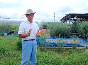 オリーブ栽培にも取り組む木田ファームの木田氏