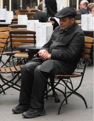 Vieux monsieur à Covent Garden (Londres)