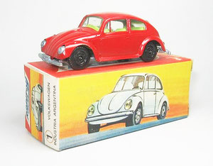 """El modelo denominado número 1. Se trata del Volkswagen """"Escarabajo"""" 1500. (Foto de Diego E)"""