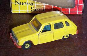 Un modelo antiguo, reproducido en la última edición de Agutí. Se trata del Renault 6 de Guisval. Calculamos que, junto con el Morris 1100 y Seat 124 Berlina, deben ser de los más complicados de encontrar. (Foto Diego E)