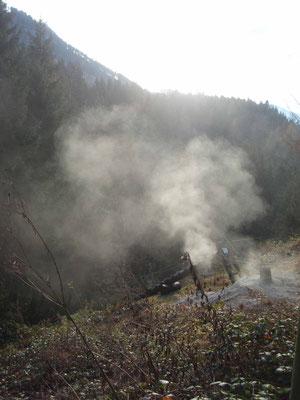 Austritt von Brandgasen bei den Betonplomben (Nov. 2010)
